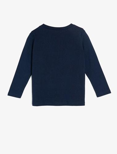 Koton Kids Yazılı Baskılı T-Shirt Lacivert